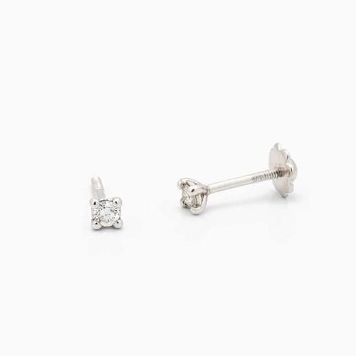 Pendientes de bebé con diamantes