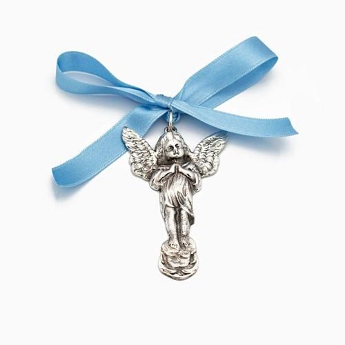 Medalla de cuna con silueta de angelito