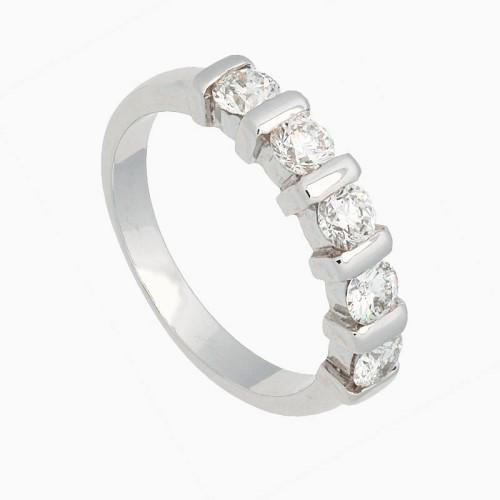 Sortija con diamantes blancos en...