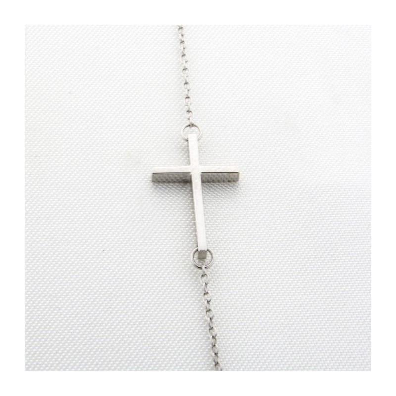 Colgante con cruz horizontal