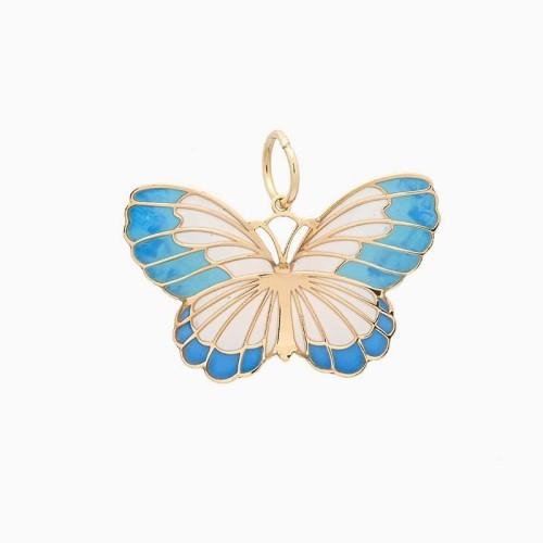 Colgante con forma de mariposa en oro...