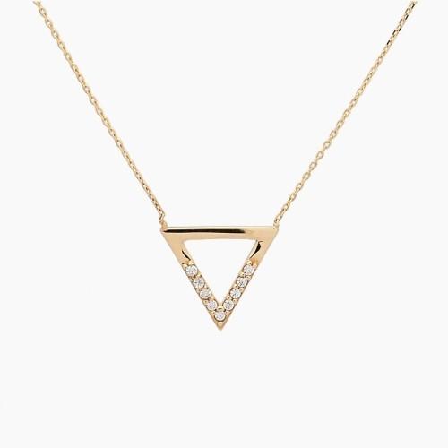 Gargantilla triángulo en oro con...