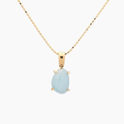 Colgante de oro amarillo y piedra azul