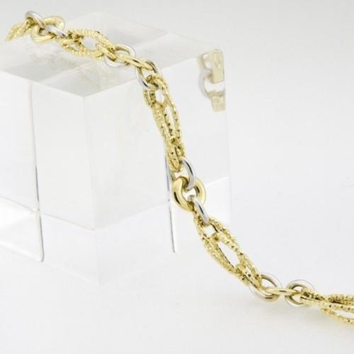 Pulsera de oro anillas