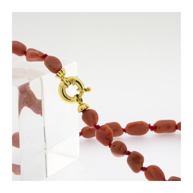 Pulsera de oro y coral auténtico