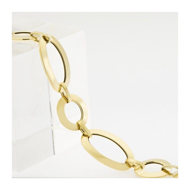 Pulsera de anillas en oro amarillo