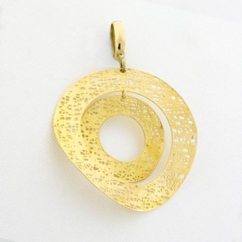 Colgante oro calado en círculos concéntricos