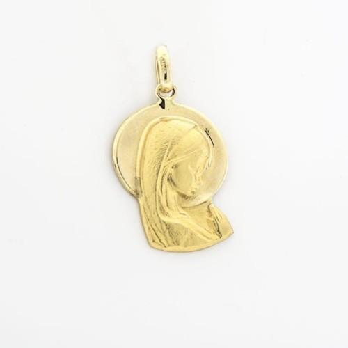 Medalla de oro bicolor en silueta