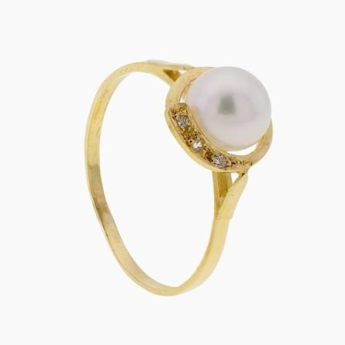 Juego Comunión en oro amarillo y perlas