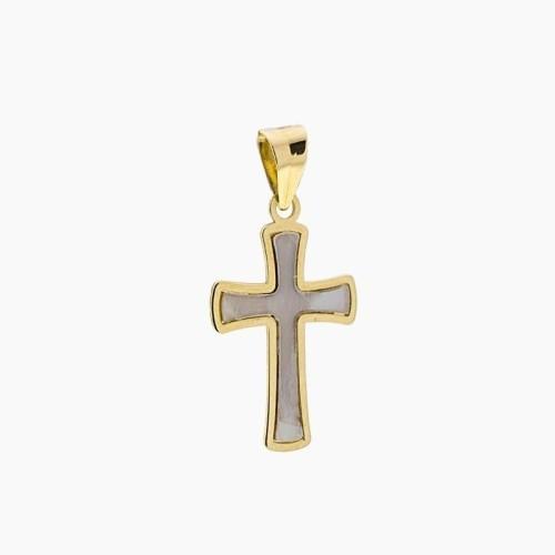 Cruz de oro y nácar