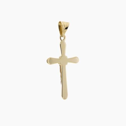 Cruz de oro bicolor y figura de Cristo