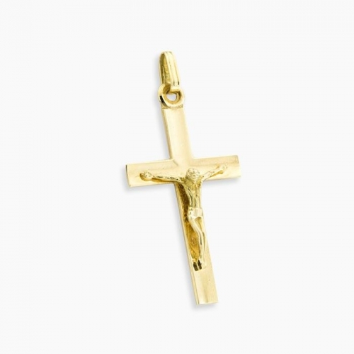 Cruz con imagen oro de ley