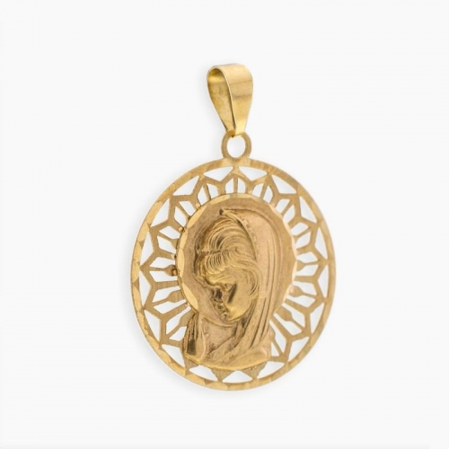Medalla redonda virgen niña
