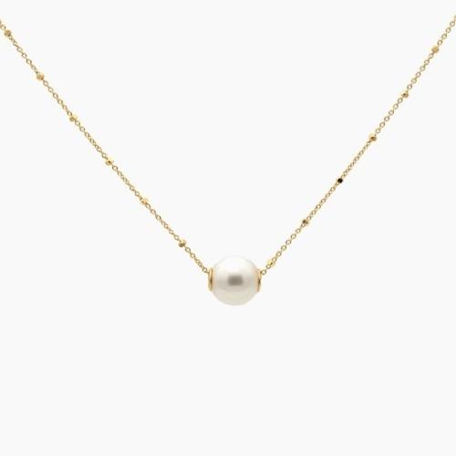 Gargantilla de oro y perla australiana